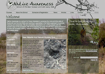 Screenshot of Native Awareness website